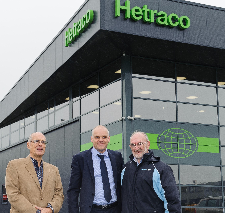Oprichter Hetraco B.V. bezoekt nieuwe pand