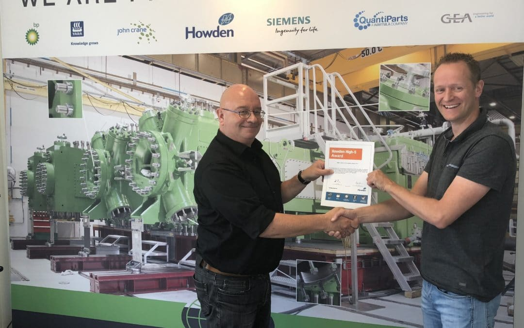 Hetraco ontvangt Howden High-5 Award
